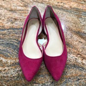 Gap raspberry pink suede-look flats, US 9
